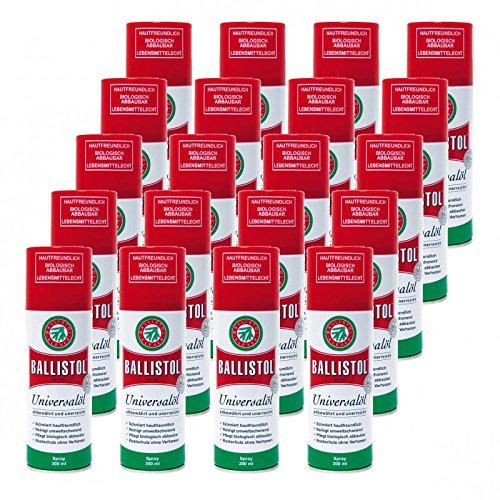 BALLISTOL Spray, 20 Dosen a 200 ml Waffenöl Kriechöl Pflegeöl 21700