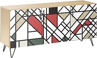NyeKoncept 13004470 Organic Modernism Hairpin Sideboard44; Natural & Black