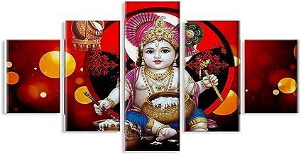 5 stks hindoeïstische god posters kunst film posters decoratieve schilderij canvas unframe-style1
