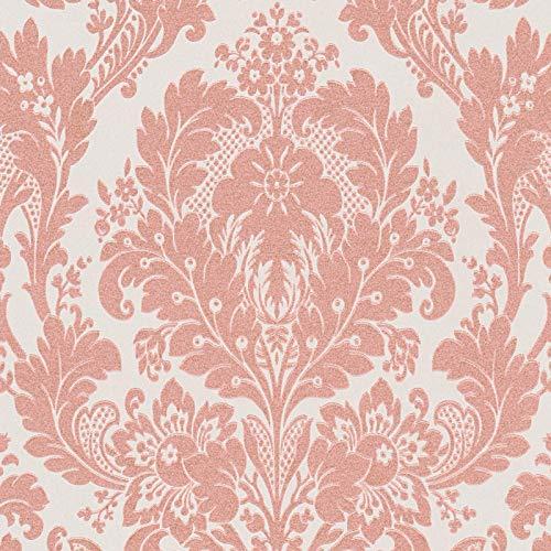 Papiertapete Barock-Tapete Ornament-Tapete 327502 32750-2 A.S. Création Kingston | Grau Pink/Rosa | Muster (21 x 29,7 cm)