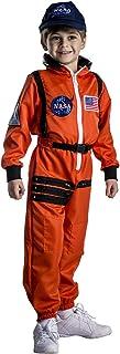 Dress Up America Astronaut Costume for Kids – NASA Orange Spacesuit for Boys & Girls