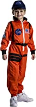Dress-Up-America Kids NASA Astronaut Orange space suit Costume for Girls, Boys and Toddlers Pretend play