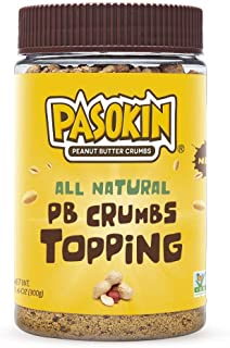 PASOKIN | Peanut Butter Crumbs | Gluten-Free, Vegan, All Natural Peanut Butter Topping, 10.5 ounce Jar
