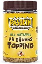 PASOKIN | Peanut Butter Crumbs | Gluten-Free, Vegan, All Natural Peanut Butter Topping, 10.5 ounce Jar