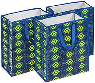 6 Pack - Extra Duty Reusable Grocery Bags - 15.5H x 14.W x 7D - Foldable Shopping Totes
