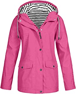 Reooly, Windbreaker Transition Jacket Chaqueta Impermeable para Mujer Chaqueta Transpirable con Capucha Chaqueta para Exteriores