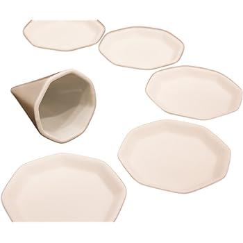 Moa Feteli(モアフェティ) 盛り塩 セット 開運 八角 盛塩セット<小> (素焼き 八角 皿 5枚+盛塩固め器付)
