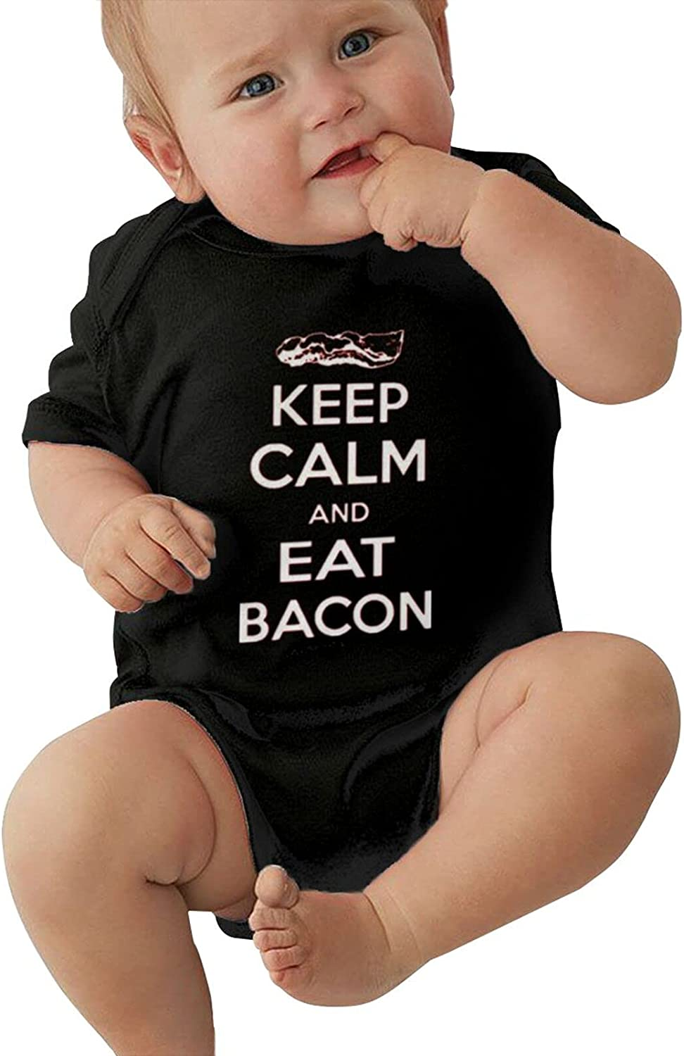 Keep Calm Eat Bacon Unisex 2021 autumn and winter new Super-cheap Baby Short Stretchy Coo Sleeve Tights