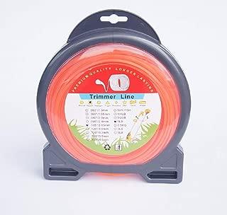 BlueCatELE .105 Grass Trimmer Line String Trimmer Line 1 Pound Square