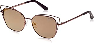 GUESS Unisex Adults' GU7528 48G 56 Sunglasses, Brown Scuro Luc/Marrone Specchiato
