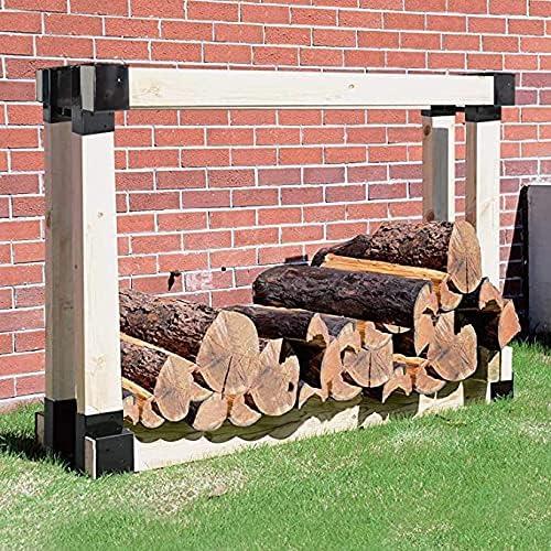 MARIJEE Wall Firewood Max 40% OFF Log Rack Beauty products Hol Kit Bracket Storage