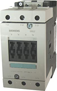 Siemens 3RT10 45-1AP60 Motor Contactor, 3 Poles, Screw Terminals, S3 Frame Size, 240V at 60Hz and 220V at 50Hz AC Coil Voltage Voltage