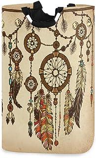 ALARGE Panier à Linge Alge Vintage Tribal Ethnique Pliable Durable Panier à Linge Sac de Rangement Poubelle à Linge Jouets...