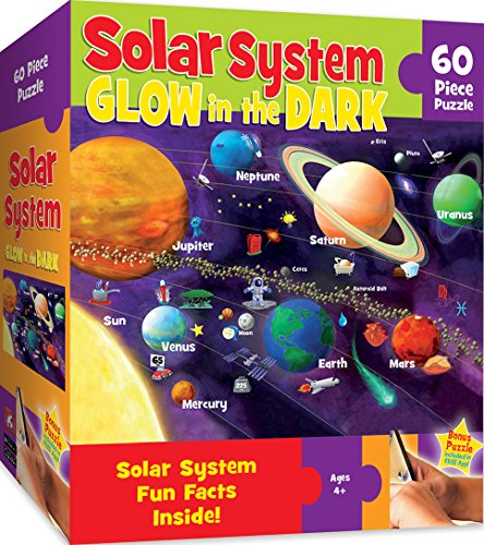 MasterPieces Maps 60 Mass Puzzles Collection - Solar System Glow 60 Piece Jigsaw Puzzle