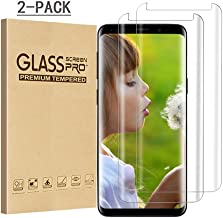Galaxy S8 Screen Protector, DECVO 2 Pack Case Friendly HD - Clear And Edge-to-Edge Full Coverage Tempered Glass Screen Protector for Samsung Galaxy S8 (Clear)