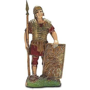 Moranduzzo Soldato Romano con Scudo 3.5 cm Multicolore
