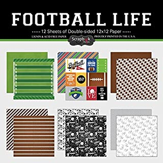 Scrapbook Customs Themed Paper Scrapbook Kit, Football Life