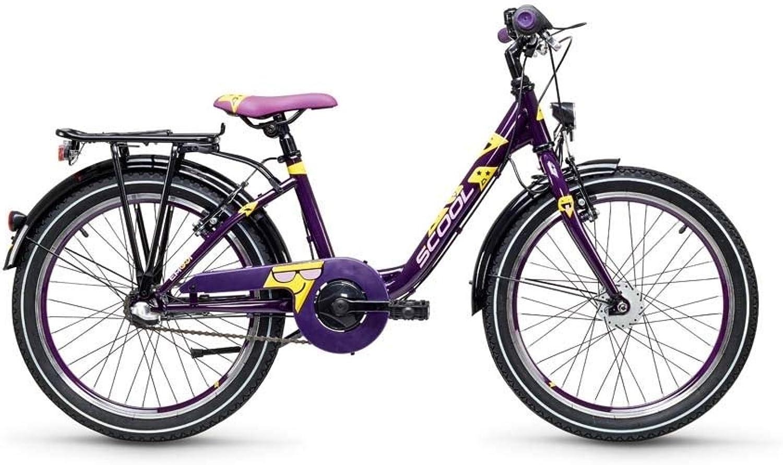 S'cool Emoji 20-3 Wave Kinderfahrrad Jugendrad für Mdchen lila Gelb