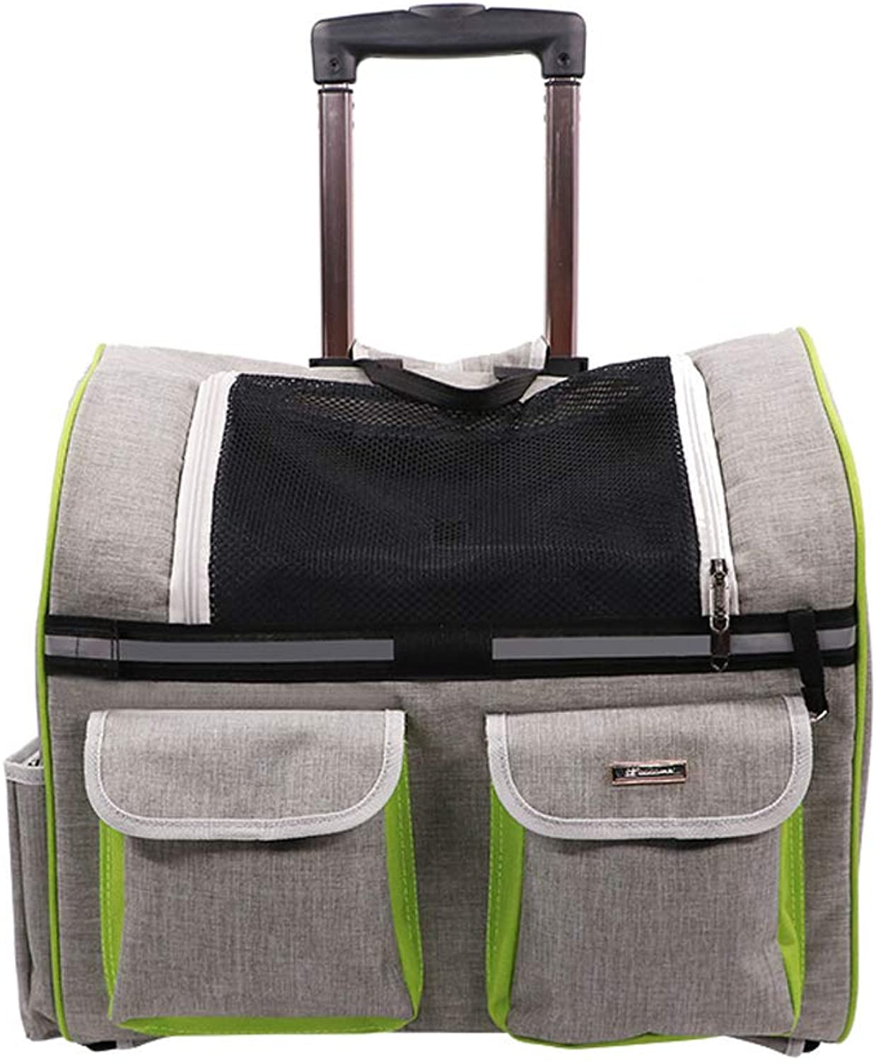 Mjd lamp lamp Pet Dog Trolley Suitcase Trolley Travel Bag Carrying Bag Of Cats And Dogs Out