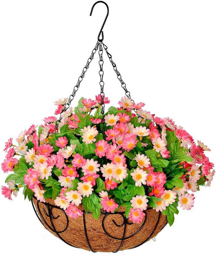 Homsunny Artificial Hanging Flowers in with 1 Basket Silk Easy-to-use Max 83% OFF Flower