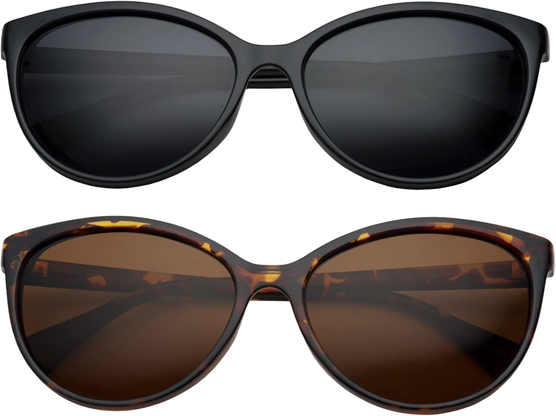 GrinderPUNCH Women's Polarized Cateye Sunglasses Lentes De Sol