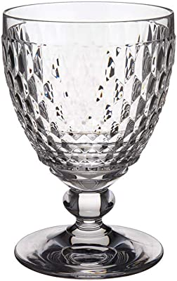 Villeroy & Boch Boston Tumbler, High-Quality Crystal Glass with Expressive Facet Pattern, Clear, Dishwasher Safe, 400 ml