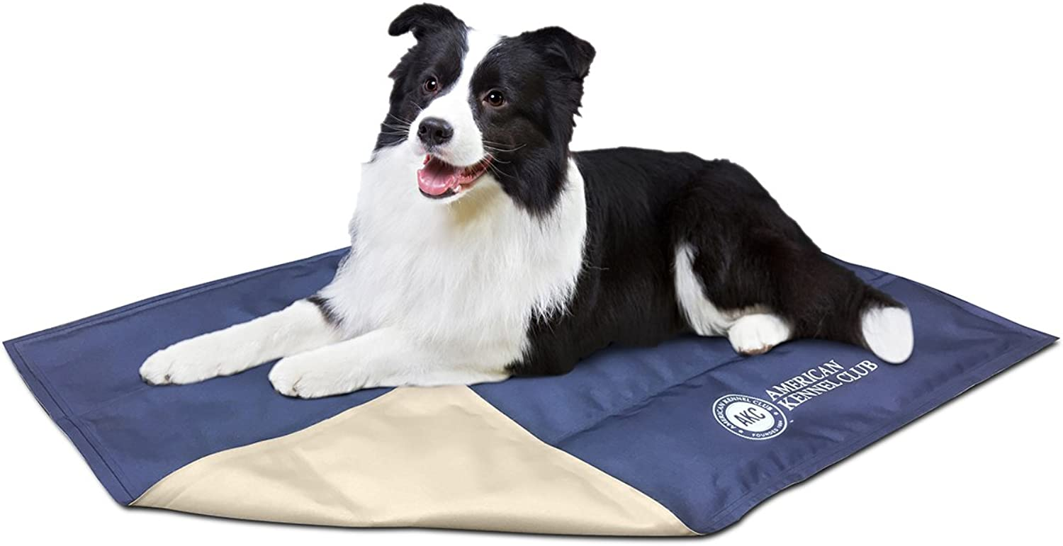 AKC625blueE AKC625blueE American Kennel Club Solid Reversible Cooling Mat 26 X20 bluee