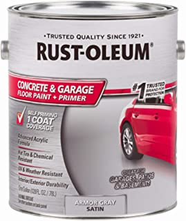 RUST-OLEUM 225359 Epoxy Shield Gray Base Single Part 1-Gallon Armor Concrete Floor Paint, 1 gal,