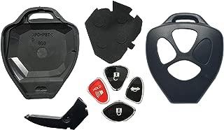 Horande Replacement Key Fob Case Shell tif for Toyota Scion TC RAV4 2008-2013 Avalon / 2007-2011 Camry / 2008-2013 Corolla / 2009-2014 Venza Key Cover Housing (Black 3 Button)