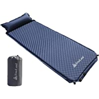 Freeland Camping Sleeping Pad Self Inflating with Attached Pillow (Large) (Dark Blue)