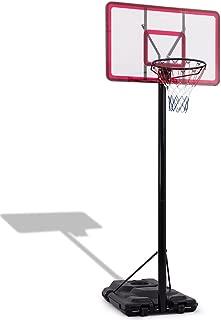 LordBee Black New Useful 10' Height Adjustable Hoop Stand Basketball Backboard with Wheels Heavy-Duty Sturdy Durable Nice Playroom