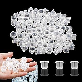 Tatoeage-inktkappen medium - SOTICA 300PCS 11MM Plastic tattoo-inktcups Caps Wegwerp tattoo-pigmentinktcaps voor tattoo-in...
