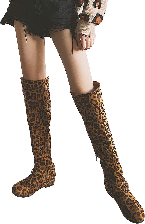 LifeStep Womens Over Knee High Low Heel Boots