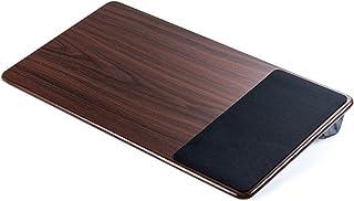 イーサプライ ラップトップテーブル ひざ上テーブル ノートパソコン タブレット 15.6インチ 木目調 ワイド マウスパッド付き EZ2-HUS007