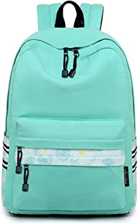 Lightweight Canvas Teen Girls Backpacks College High School Bookbag Casual Travel Laptop Daypack