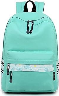 Lightweight Canvas Teen Girls Backpacks College High School Bookbag Casual Travel Laptop Daypack