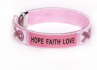 Breast Cancer Pink Ribbon Bangle Bracelets (2 Bracelets)