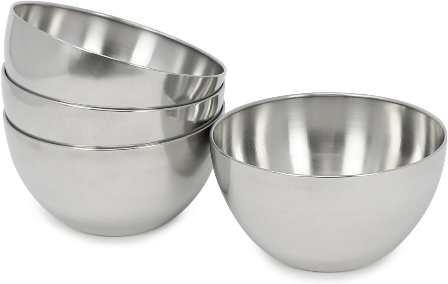 COM-FOUR® 4x Tazones nido - Tazones para mezclar - Tazones para servir - Tazones para bocadillos para salsas, bocadillos y postres Tazones de cocina para mezclar, hornear o cocinar (4 piezas - Ø 13cm)