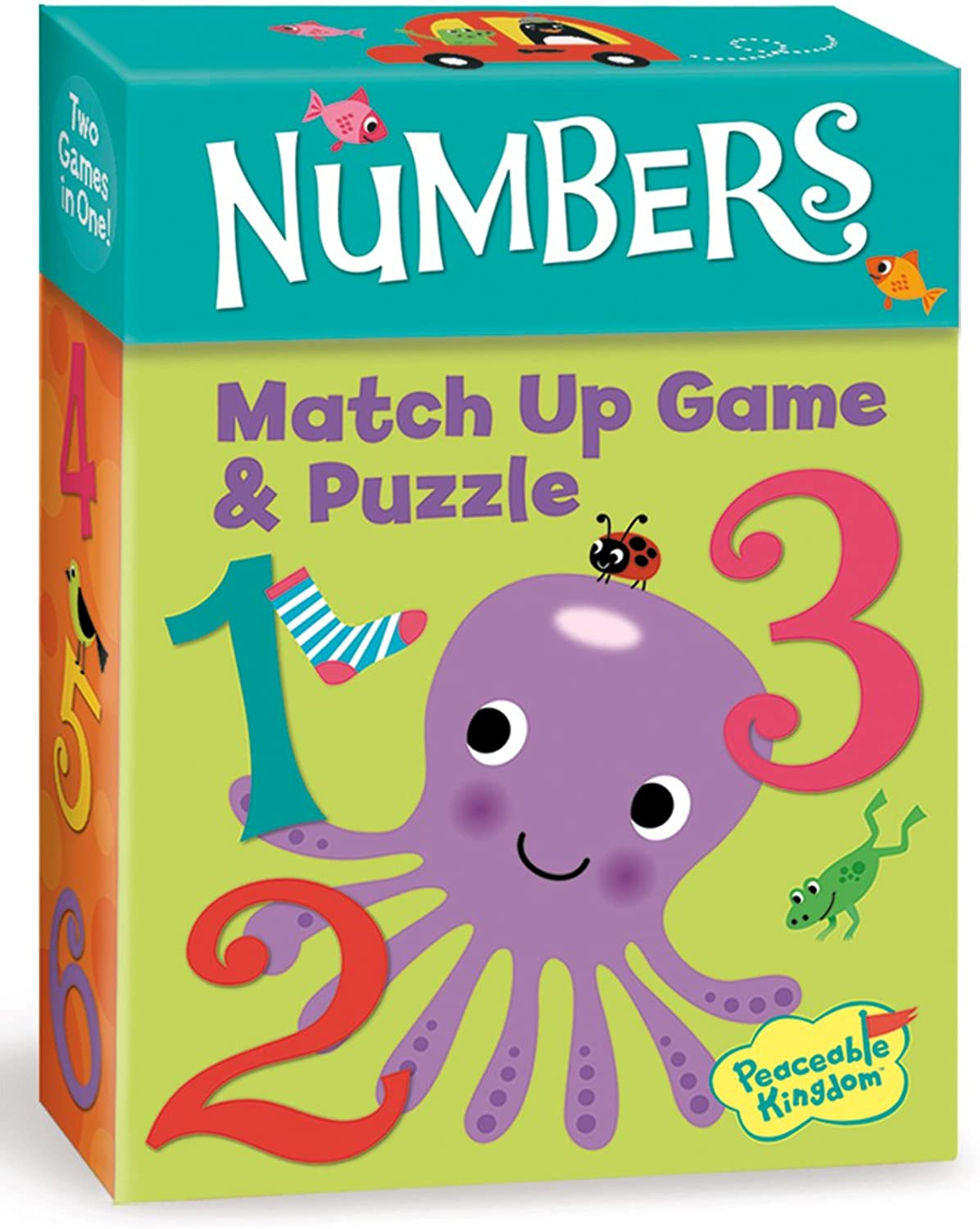 Peaceable Kingdom Numbers Match Up Game and Puzzle Board Game