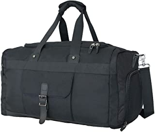 Sports Gym Bag Large Sports Travel Duffel Bag, Waterproof Weekender Overnight Bag for Men and Women with Shoes Compartment 40L