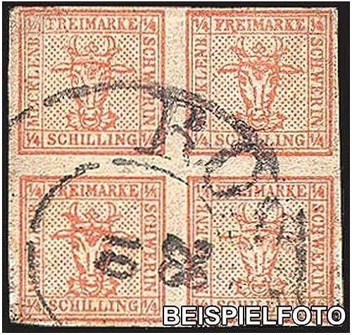 Goldhahn Mecklenburg-Schwerin Nr. 1 gestempelt Briefmarken für Sammler
