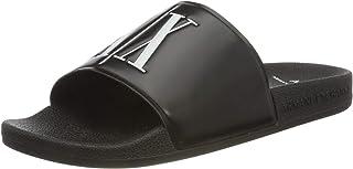 Armani Exchange Men's Ax Icon Logo Pool Slides Flip Flops