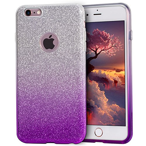 iPhone 6S móvil, iPhone 6 Funda, mateprox Luxus brillantes [Tres de capa...