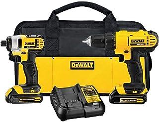 DEWALT - Brush 20V MAX Cordless Drill Combo Kit, 2-Tool...