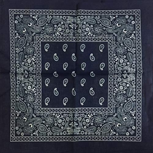luosh Square Sjaal, Retro Bloemen Print Nek Hoofd Sjaal Sjaals Dansen Haarband Katoen Bandana Hoofddoek voor Mannen Vrouwen