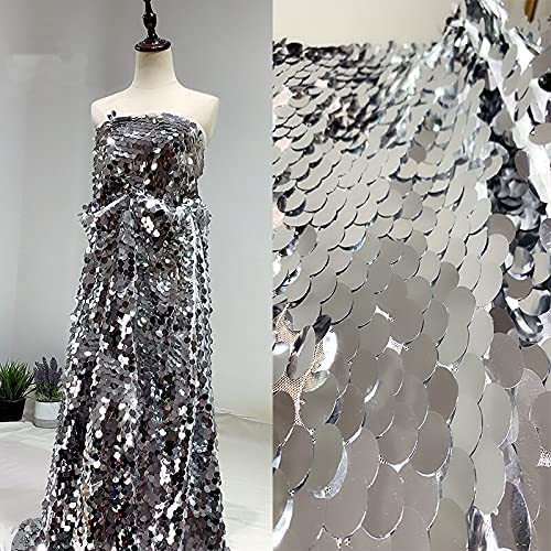 SELLACE Round Fish Scales Sequined for Fabric Dress Max 81% OFF Free shipping anywhere in the nation Mesh Backgro