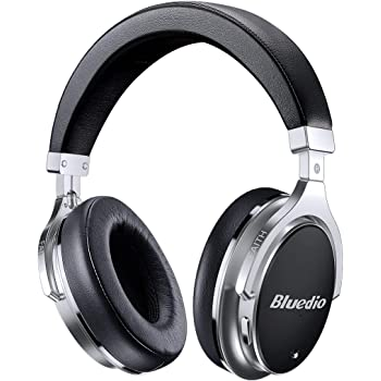 Bluetooth Headphones Active Noise Cancelling, Bluedio F2 ANC Over Ear Wireless Headphones 180° Rotation,Wired and Wireless Headphones for Cell Phone/TV/PC - Black