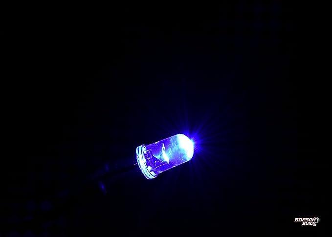 5 pcs x LED 12V 3mm 3000mcd warmweißm #A3577