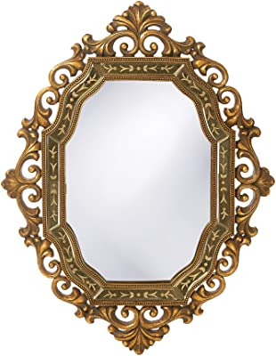 Howard Elliott 11059 Ariana Rectangular Mirror, 30 x 40-Inch, Antique Gold