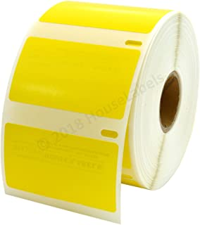 """6 Rolls 30334 Yellow Compatible with DYMO 2 1/4""""x 1 1/4"""" Labels 1000 Labels Per Roll"""